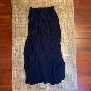 American Vintage Navy Maxi Skirt